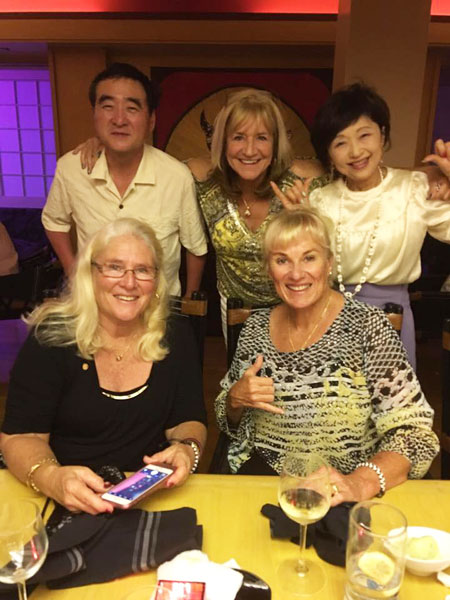 New friendships: Between Rotary Club of Kona Sunrise and our Sister Club, Rotary Club Nagoya South.